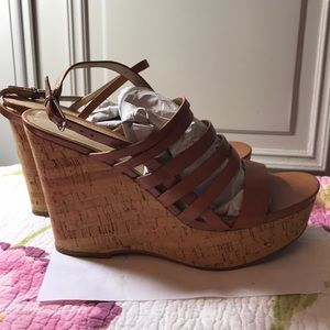 Via Spiga cork & leather platform shoes